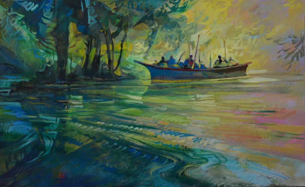 ES Northwest Passage ac on canvas 30X48